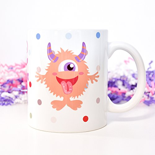 Kids Monster Coffee Mug Monster Coffee Mug Funny Monster Tea Mug Gift for Children Ceramic Coffee Mug White Coffee Mug Dishwasher Microwave Safe Coffee Mugs