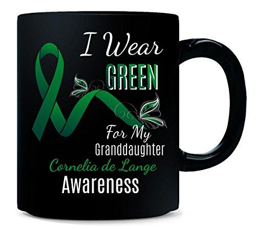 Granddaughter Awareness I Wear Green For My Cornelia De Lange - Mug