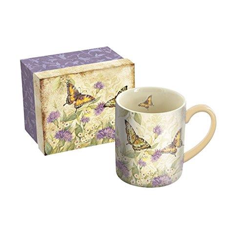 LANG - 14 oz Ceramic Coffee Mug - Morning Has Broken Art by Susan Winget - Butterfly Wildflowers