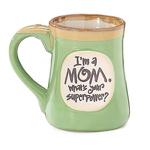 1 X Im a Mom Superpower Lime Green 18 Oz Mug