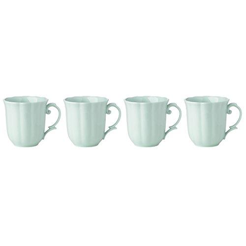 Lenox Butterfly Meadow Solid Green Mugs Set of 4