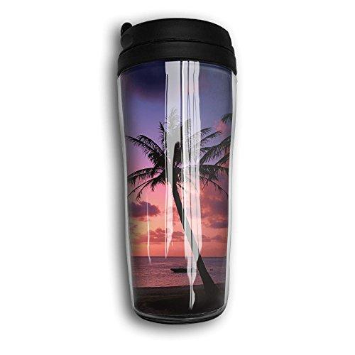 Beach Coconut Trees Cute Coffee Mug Custom Tea Cup Insulated Travel Mug Christmas Present 350ml