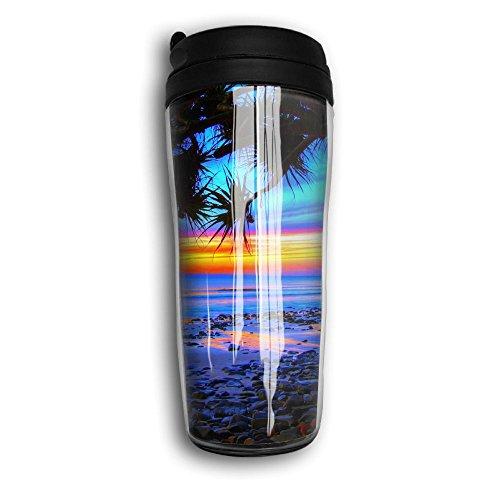 Beach Sunrise Lovely Coffee Mug Custom Tea Cup Insulated Travel Mug Christmas Present 350ml