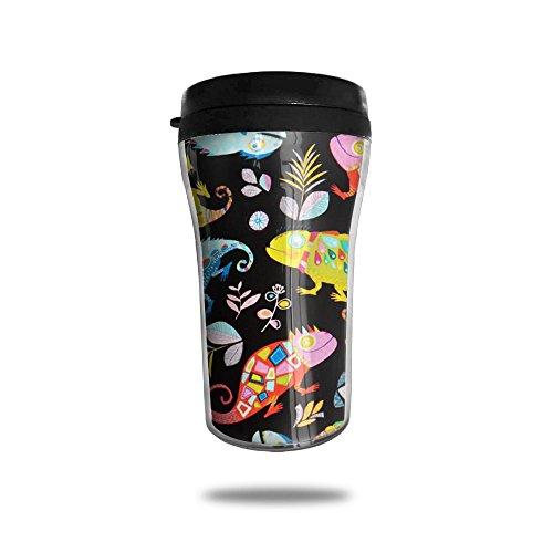 Colorful Chameleon Cute Coffee Mug Custom Tea Cup Insulated Travel Mug Christmas Holiday Gift 250ml