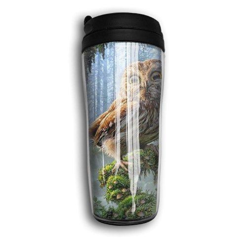 Smilling Owl Cute Coffee Mug Custom Tea Cup Insulated Travel Mug Christmas Gift 350ml
