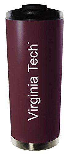 Virginia Tech-16oz Stainless Steel Vacuum Insulated Travel Mug Tumbler-Burgundy