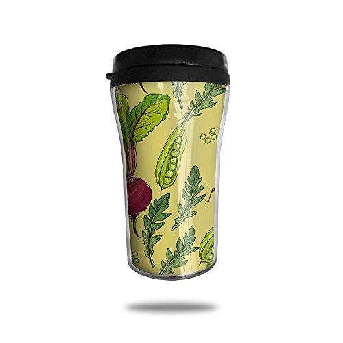 New Fashion 85oz Coffee Mugs Red Summer Radish Thermal Mug Cute Small Tea Cups Breakfast Portable Exquisite Novelty
