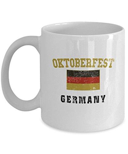 Germany Oktoberfest Coffee Mug - 11oz White Ceramic Holiday Tea Cup Set of 1