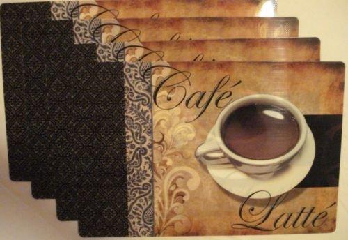 The Pecan Man Kitchen Cafe Latte Linen Placemats Set of 4