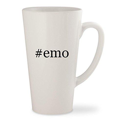 emo - White Hashtag 17oz Ceramic Latte Mug Cup
