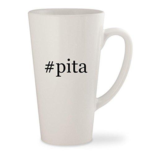 pita - White Hashtag 17oz Ceramic Latte Mug Cup