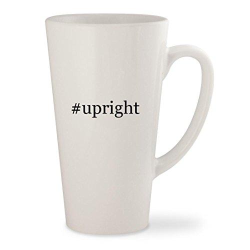 upright - White Hashtag 17oz Ceramic Latte Mug Cup