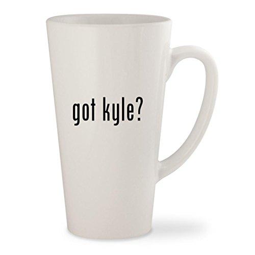 got kyle - White 17oz Ceramic Latte Mug Cup