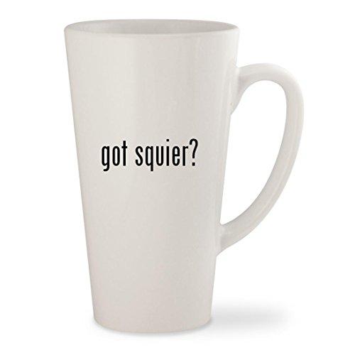 got squier - White 17oz Ceramic Latte Mug Cup