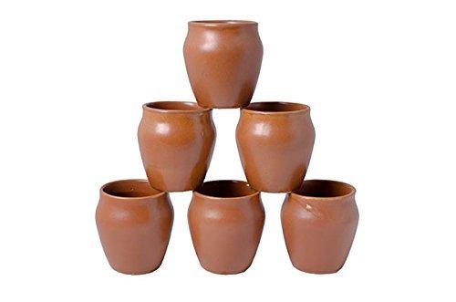 Porcelain 6 Pc Kulhar Kulhad Cups Traditional Indian Chai Tea Cup Set of 6 Tea Mug Coffee Mug
