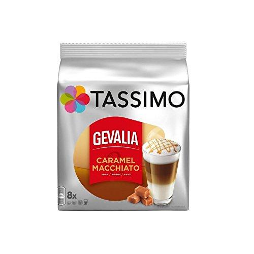 Tassimo Gevalia Latte Macchiato Caramel 8 servings Pack of 2