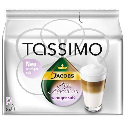 Tassimo Jacobs Latte Macchiato weniger süß 8 Port