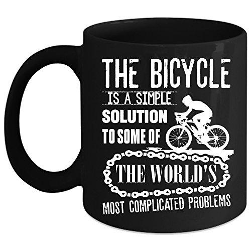 The Bicycle Is A simple Solution Coffee Mug Outdoor Coffee Cup Coffee Mug Black