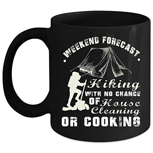 Weekend Forecast Hiking Coffee Mug Outdoor Coffee Cup Coffee Mug Black