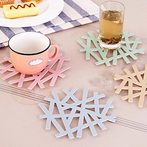 BinmerTM PVC Hollow Coaster Mat Pad Cushion Drinks Tea Cup Tableware Placemat Decoration D