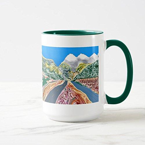 Zazzle Colorado Autumn Mug Hunter Green Combo Mug 15 oz