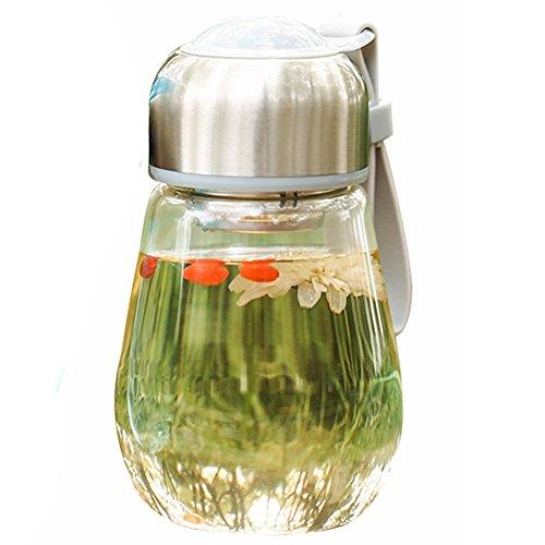LifeWheel Cute Office Tea Cup Creative Travel Mugs Borosilicate Glass Penguin TumblersGrayA Style