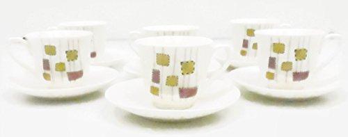 Ceyka Porcelain Turkish Coffee Cups Set of 12 Espresso Cups