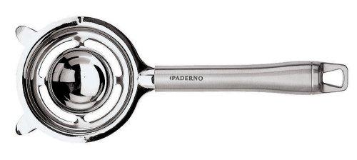 Paderno World Cuisine 8-7/8-inch Long Stainless Steel Egg Separator