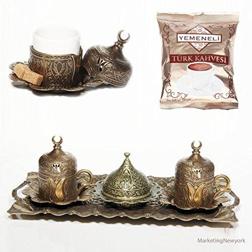 12 Pc Ottoman Turkish Greek Arabic Coffee Espresso Serving Cup Sena- Autentic