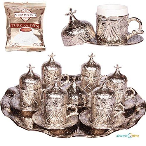 27 Pc Ottoman Turkish Greek Arabic Coffee Espresso Serving Cup Saucer Cooper
