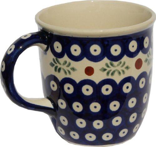 Polish Pottery Mug 12 Oz From Zaklady Ceramiczne Boleslawiec 1105-242 Classic Pattern Capacity 12 Oz