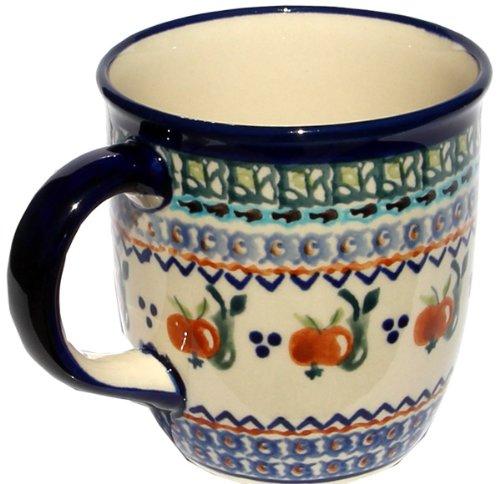 Polish Pottery Mug 12 Oz From Zaklady Ceramiczne Boleslawiec 1105-DU71 Unikat Pattern Capacity 12 Oz