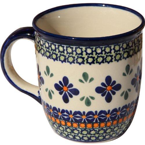 Polish Pottery Mug 12 Oz From Zaklady Ceramiczne Boleslawiec 1105-du60 Unikat Pattern Capacity 12 Oz