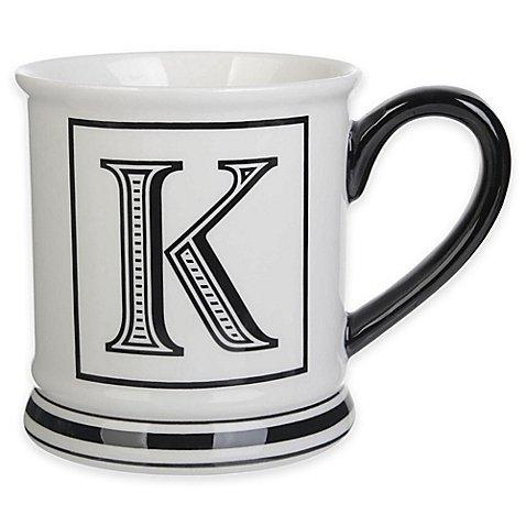 Formations Block Letter K Monogram Mug