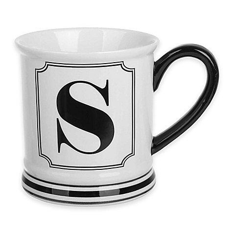 Formations Block Letter S Monogram Mug