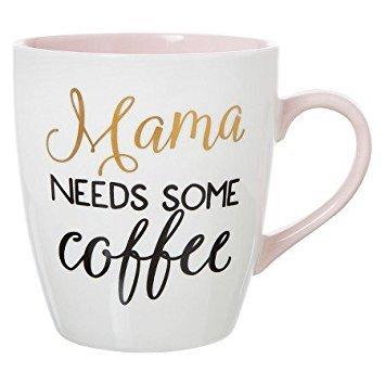 Clay Art Jumbo Mug 27oz Porcelain - Mama needs some coffee