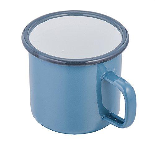 TeamFar 24 Ounce Jumbo Tea Coffee Beer Mug Enamel Travel Camping Soup Mug Bright Color Classic Look - Blue