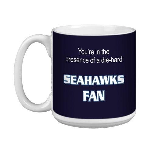Tree-Free Greetings XM28135 Seahawks Football Fan Artful Jumbo Mug 20-Ounce