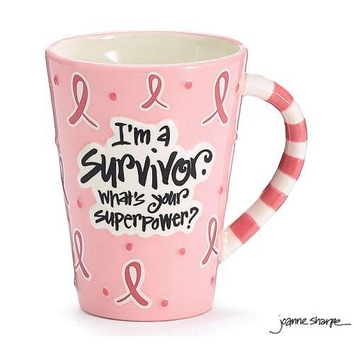 Burton and Burton Im A Survivor Whats Your Superpower Coffee Mug 12oz Pink