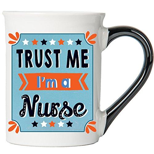 Cottage Creek Nurse Mug Large 18 Ounce Trust Me Im A Nurse Coffee MugRN Mug White