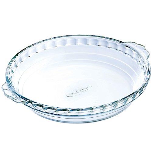 Arcuisine Borosilicate Glass Pie Dish W/handles 8.65 Inches (22 Centimeter) 1.1 Liter