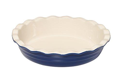 Baker's Advantage Ceramic Deep Pie Dish, 9-1/2-inch, Blue