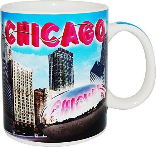 City of Chicago Peaceful Blue Sky Skyline Coffee Mug