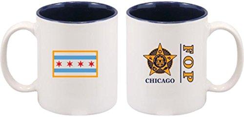 FOP Chicago Coffee Mug WChicago Flag 2-Sided