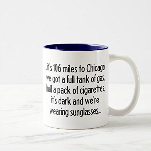 Zazzle 106 Miles To Chicago Coffee Mug Navy Blue Two-Tone Mug 11 oz