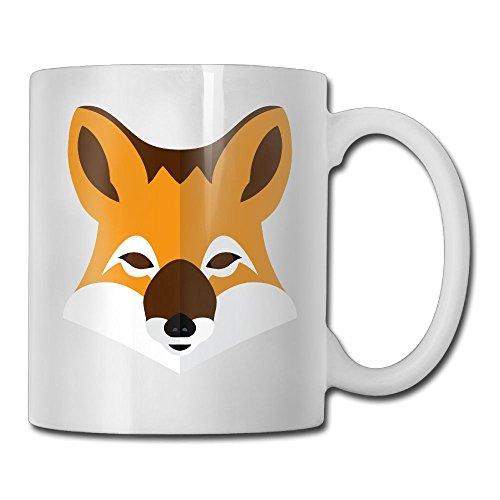 Black Fox Head Interesting Coffee Mug Heat Resistant Cup For Boyfriend Holiday Best Gift