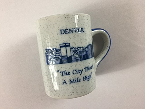 Denver Colorado Coffee Mug Vintage Cup Speckled Mile High City State Capitol Japan