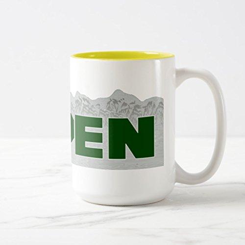 Zazzle Aspen Colorado Coffee Mug Yellow Two-Tone Mug 15 oz