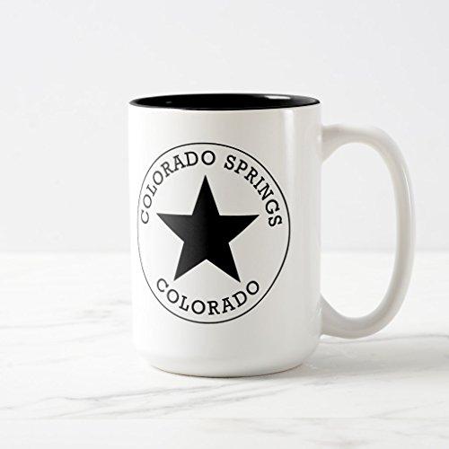 Zazzle Colorado Springs Colorado Coffee Mug Black Two-Tone Mug 15 oz