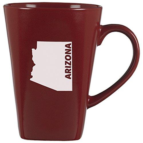 Arizona-State Outline-14 oz Ceramic Coffee Mug-Cardinal